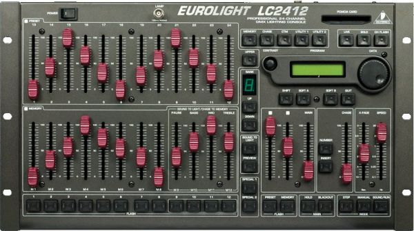 EUROLIGHT CONTROLADOR DMX MESA LC2412