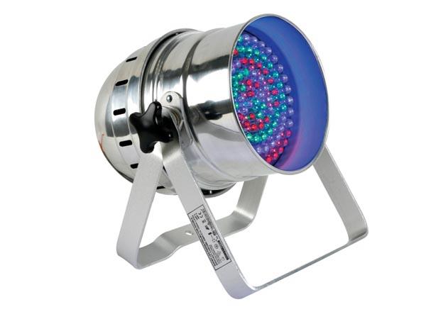FOCO PAR56 CORTO CROMADO SOPORTE DOBLE 108 X LEDS 10MM