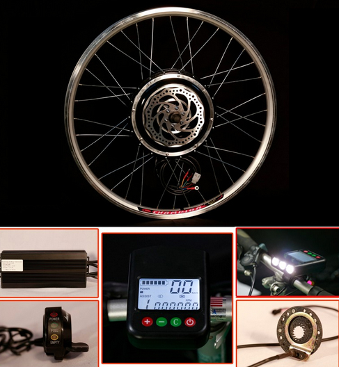 KIT BICI ELECTRICA EBIKE 250W FRENO DISCO 26