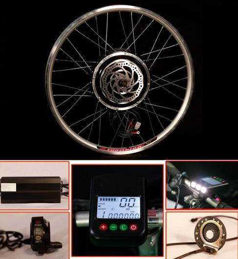KIT BICI ELECTRICA EBIKE 1000W 48V CON FRENO DISCO BICICLETA 26
