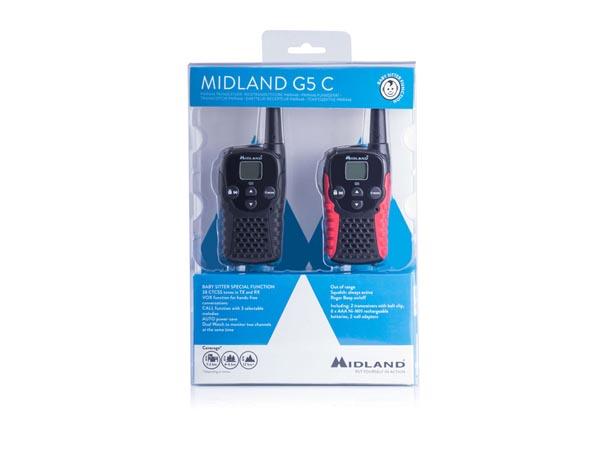 MIDLAND® G5C CON DOS WALKIE-TALKIES