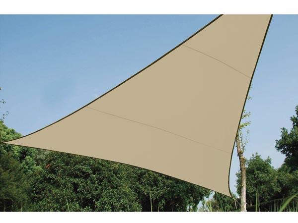 VELA SOMBRA PERMEABLE TRIANGULAR 3.6X3.6X3.6M BEIGE