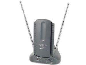ANTENA ACTIVA COMPACTA UHF VHF  FM PARA USO EN INTERIORES