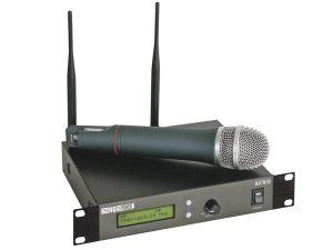 MICRÓFONO UHF INALÁMBRICO DE 12 CANALES PANTALLA LCD