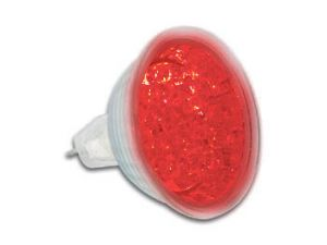 BOMBILLA LEDS COLOR ROJO MR16 12VAC