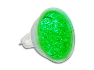 BOMBILLA LED COLOR VERDE MR16 12V