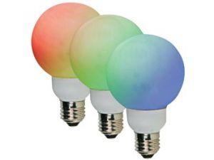 BOMBILLA RGB E27 42 LEDS Ø80MM