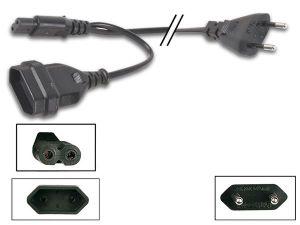 CABLE DE ALIMENTACIÓN-CONECTOR PLANO A 1 CONECTOR PLANO HEMBRA + CONECTOR