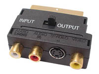 CONECTOR SCART MACHO A 3 x CONECTOR RCA