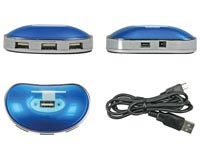 USB 2.0 HUB, 1 x MACHO A 4 x USB-A HEMBRA - LONGITUD DEL CABLE 1m