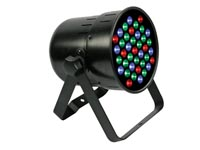 FOCO LED PAR64 PROFESIONAL CORTO NEGRO DMX512 39 X 1W LED