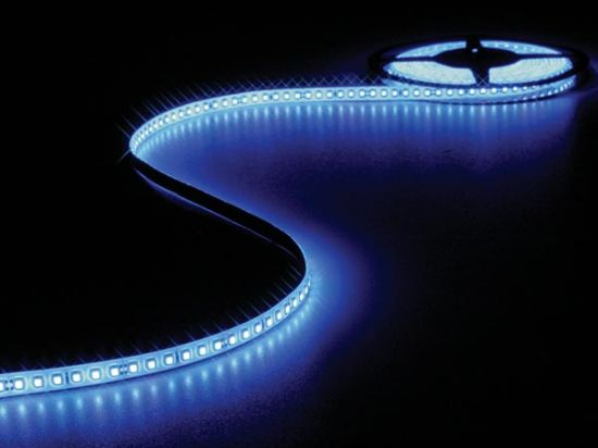 CINTA 600 LEDS FLEXIBLE RESISTENTE A LA INTEMPERIE - COLOR AZUL 5 METROS
