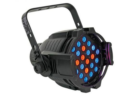 FOCO MULTI-PAR - 18 LEDS RGB DE 3W + 6 LEDS COLOR ÁMBAR DE 1W