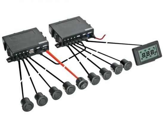 RADAR DE APARCAMIENTO SENSORES FRONTALES  TRASEROS + PANTALLA LCD