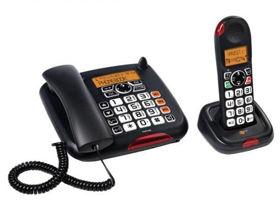 TELÉFONO INALÁMBRICO CON TECLAS GRANDES