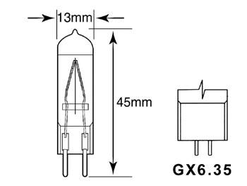 JDC 75W 220V G6.35