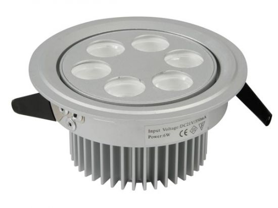 PLAFÓN LED 6X1W COLOR BLANCO CON DRIVER