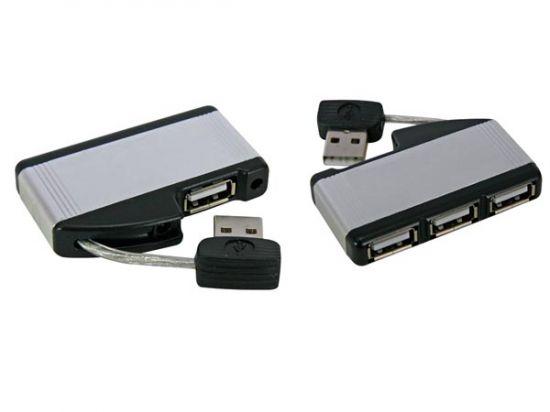 MINI HUB USB 2.0 1 X MACHO A 4 X USB-A HEMBRA