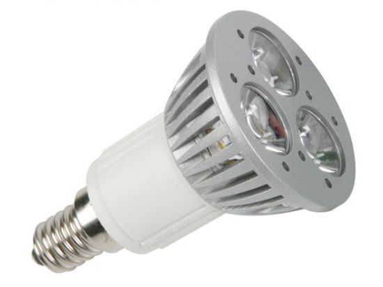 BOMBILLA LED 3 X 1W BLANCO NEUTRO 3900-4500K E14
