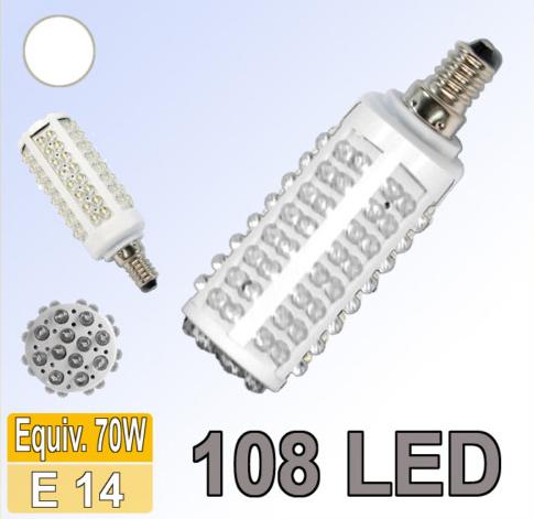 BOMBILLA LED E14 LUZ BLANCA 450 LUMENES 5W 6500-7000K