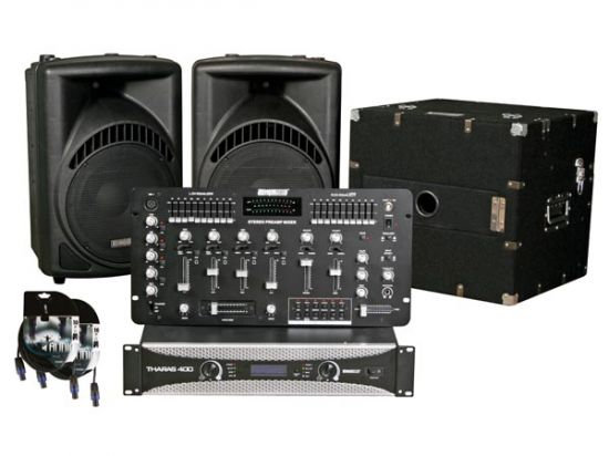 JUEGO DISCO AUDIO ABS EN FLIGHT CASE 900W