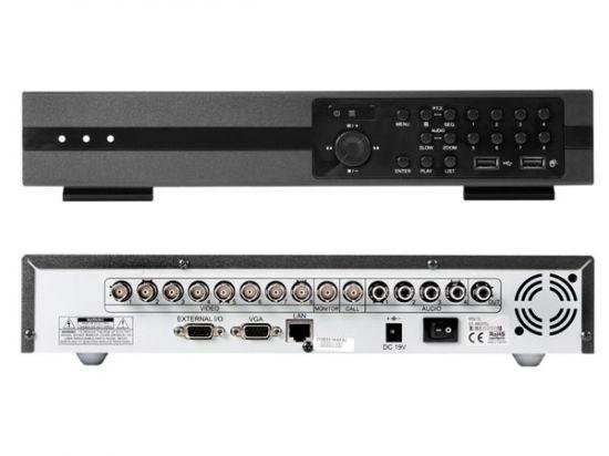 VIDEOGRABADORA DIGITAL H.264 DE 8 CANALES + ETHERNET + USB + VGA