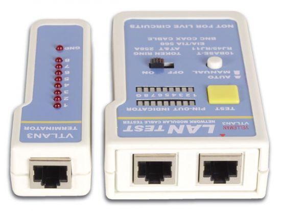 COMPROBADOR DE CABLE LAN PARA RJ45 (8P8C), RJ12 (6P6C), RJ11 (6P2C), RJ10 (4P4C)