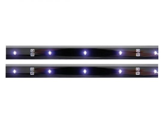 DOBLE CINTA AUTOADHESIVA CON LEDS 12VDC COLOR BLANCO CON INTERRUPTOR ON/OF