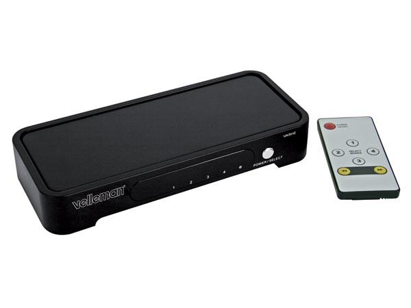 CONMUTADOR HDMI V1.3 - 4 A 1 - CON MANDO A DISTANCIA
