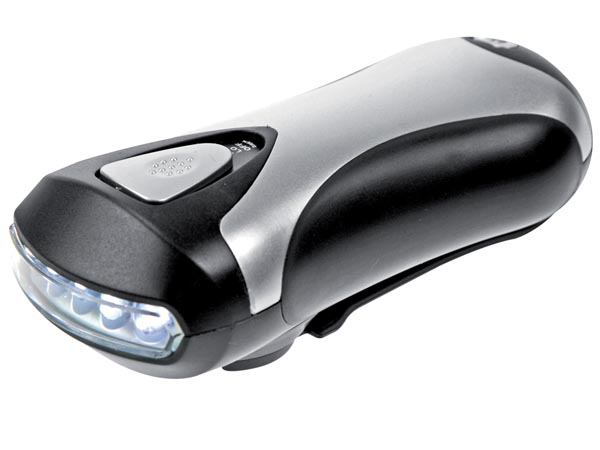 LINTERNA DINAMO CON 5 LEDS 3 EN 1 USB BRUJULA
