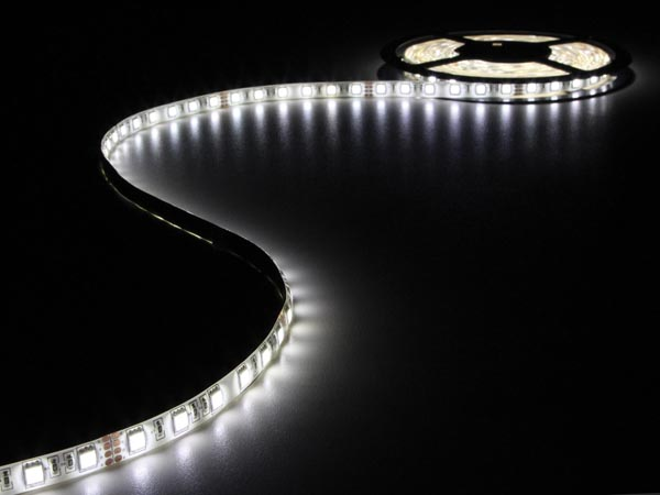 CINTA CON LEDS FLEXIBLE - COLOR BLANCO NEUTRO - 300 LEDS - 5M - 24VDC - SIN REVE
