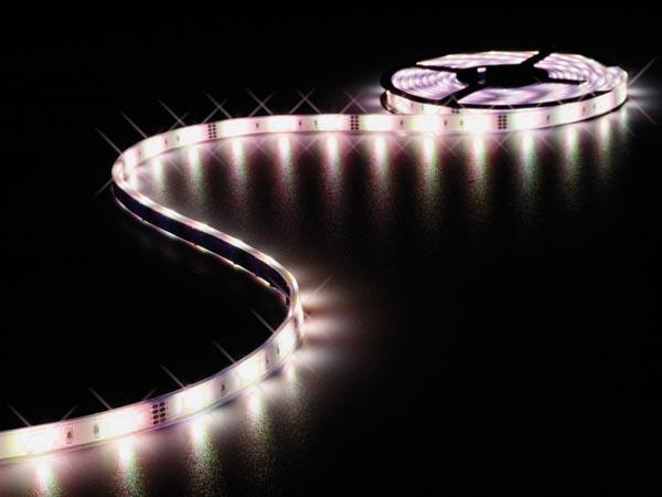 CINTA CON LEDS FLEXIBLE RESISTENTE AL AGUA IP68- RGB - 150 LEDS - 5M