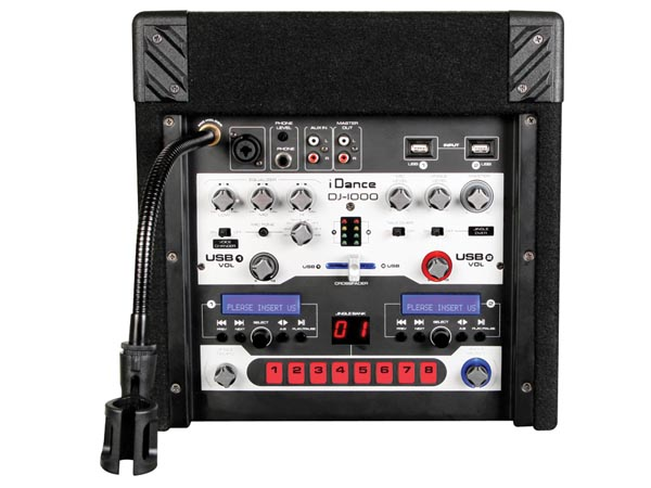 EQUIPO DE SONIDO DJ TECH PARTY BOX CON DOS REPRODUCTORES USB/MP3