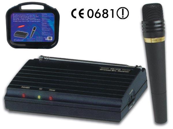 MICRÓFONO VHF INALÁMBRICO DE 1 CANAL 181.660MHZ