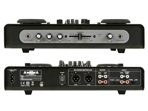 DOBLE REPRODUCTOR USB/SD Y MESA DE MEZCLAS AUDIO