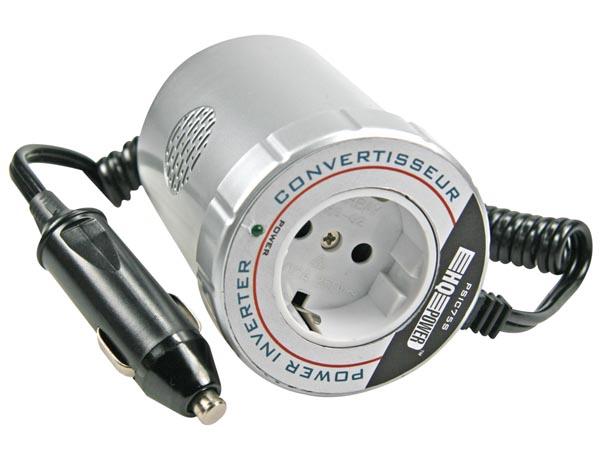 CONVERTIDOR 12VDC SALIDA 220V 75W ONDA SENOIDAL MODIFICADA
