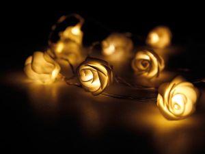 CADENA LUZ CON FLORES LEDS