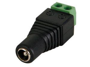 CONECTOR DC 5.5 X 2.5MM HEMBRA A CONEXIÓN POR TORNILLO
