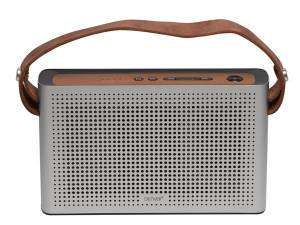 ALTAVOZ BLUETOOTH MP3 CON BATERÍA RECARGABLE GRIS PLATA