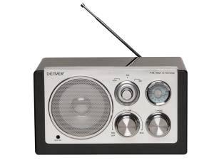 RADIO PORTÁTIL  DISEÑO RETRO  COLOR NEGRO
