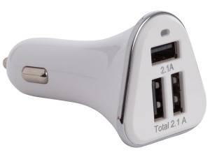 CARGADOR DE COCHE CON 3 PUERTOS USB 21 W