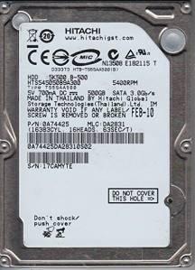 DISCO DURO HITACHI 500GB 2.5 TS5SAA500