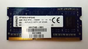 MEMORIA KINGSTON RAM 4GB PC3L 12800S DDR3 PORTATIL