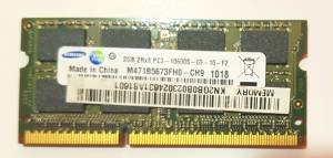 MEMORIA 2GB PORTATIL M471B5673FH0 PC3 2RX8 10600S