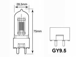 BOMBILLA HALÓGENA PHILIPS 500W 220V M40 GY9.5 2800K