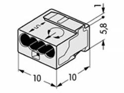 MICRO PUSH-WIRE CONECTOR JUNCTION BOXES 4 CONDUCTOR TERMINAL 100 UNIDADES