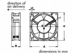 VENTILADOR SUNON 12VDC COJINETE LISO 80 X 80 X 25MM